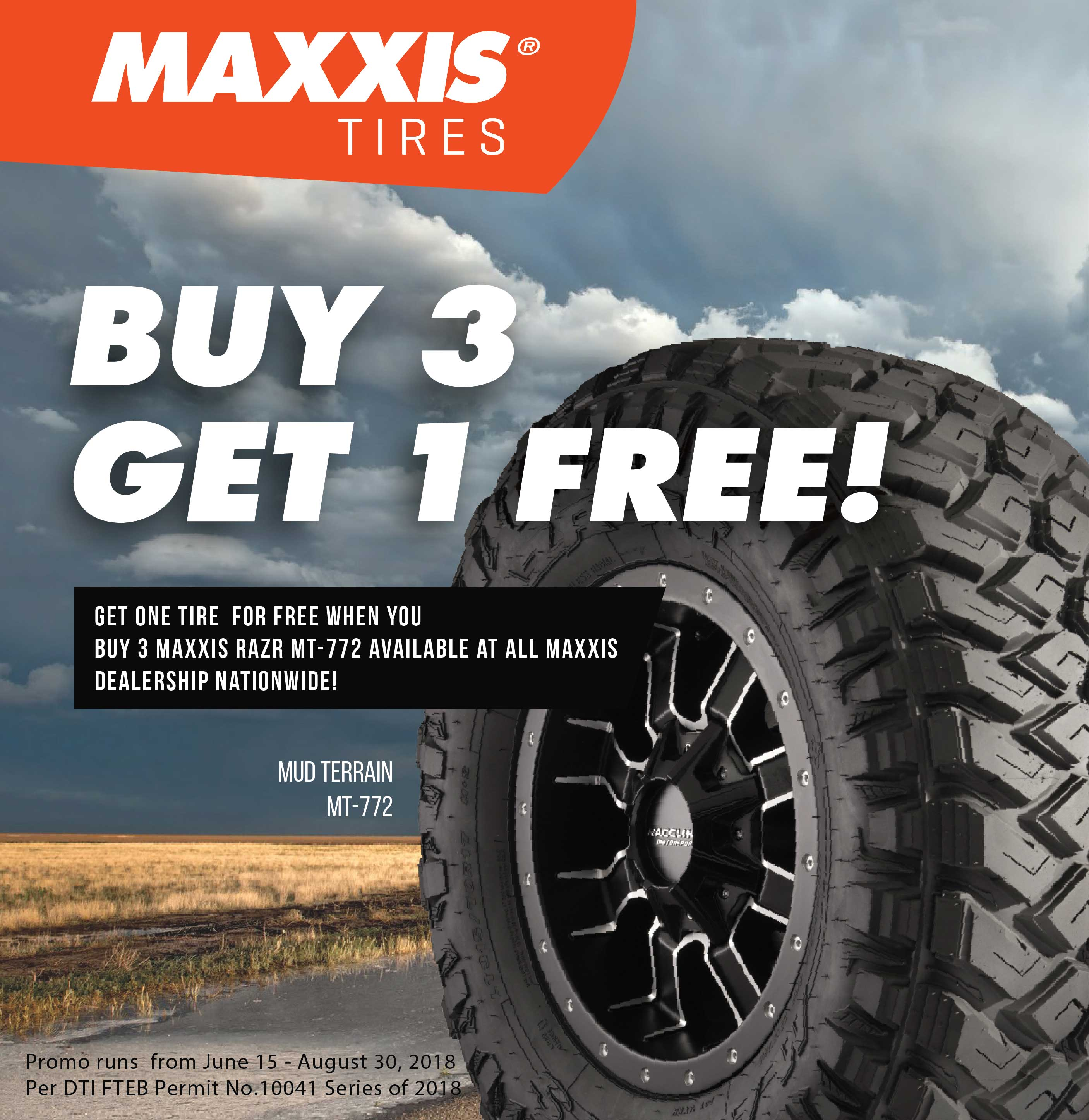 Buy 3 Get 1 Free Tires >> Maxxis Buy 3 Get 1 Free Mt 772 Maxxis Philippines